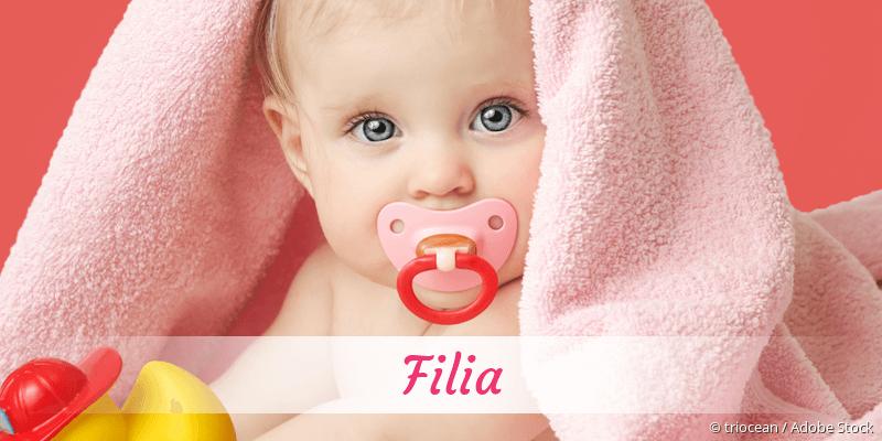 Name Filia als Bild