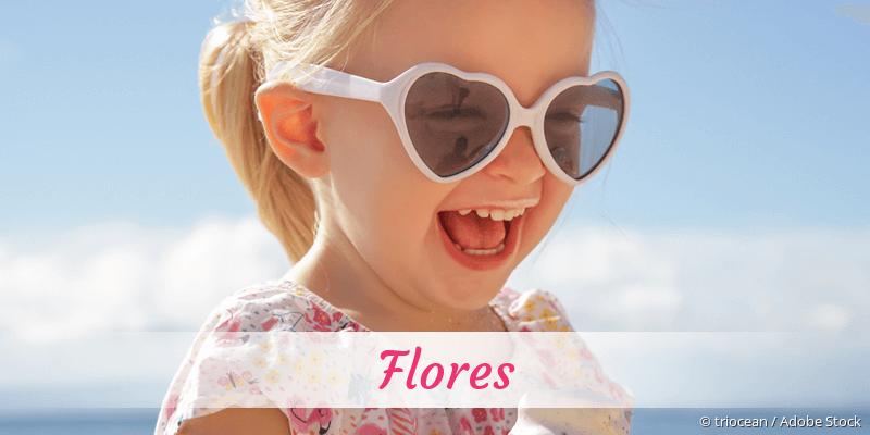 Name Flores als Bild