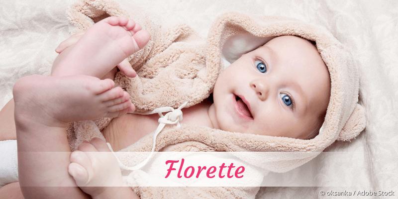Name Florette als Bild