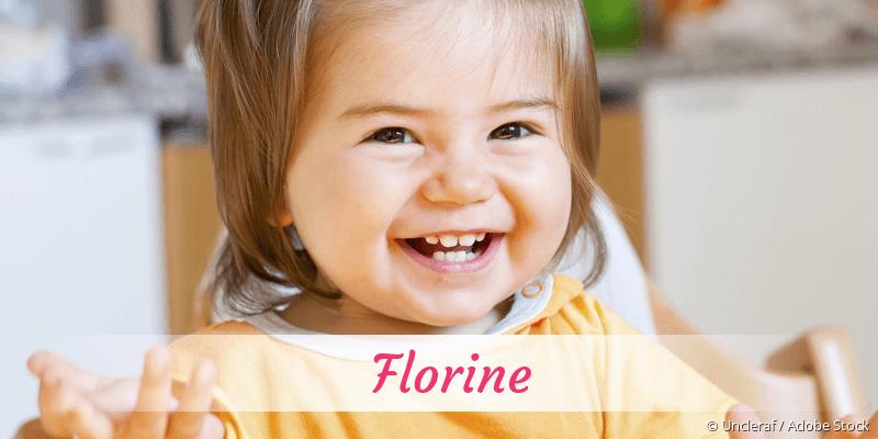 Name Florine als Bild