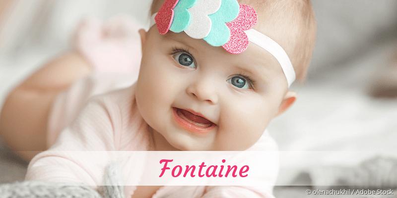 Name Fontaine als Bild