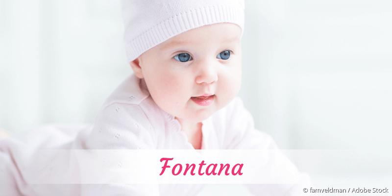 Name Fontana als Bild
