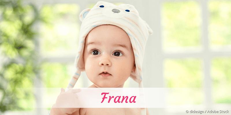 Name Frana als Bild