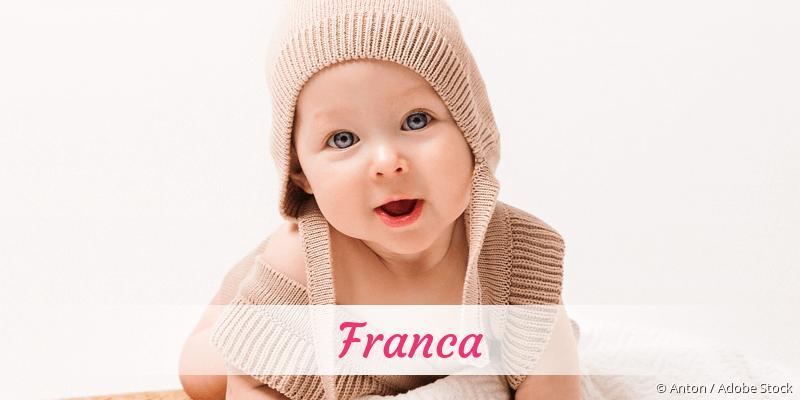 Name Franca als Bild