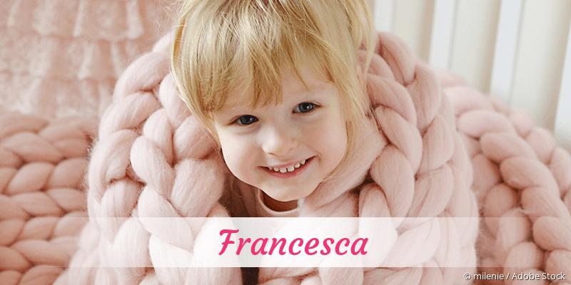 Name Francesca als Bild