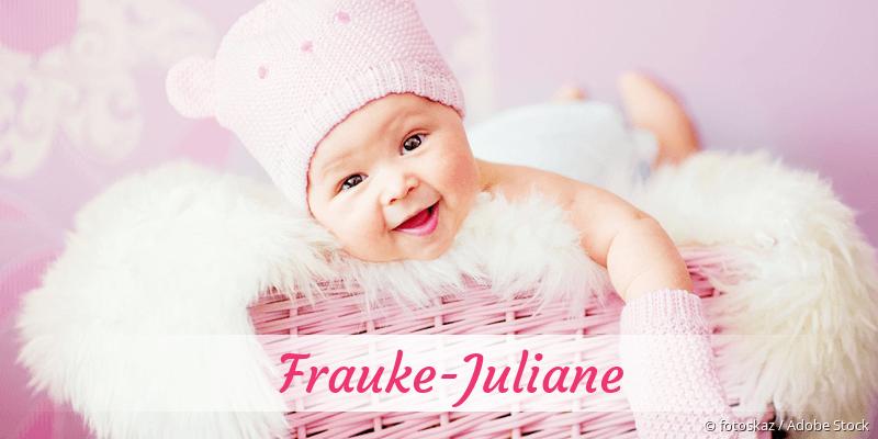 Name Frauke-Juliane als Bild