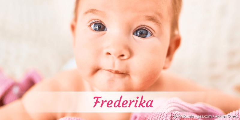 Name Frederika als Bild