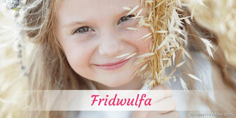 Name Fridwulfa als Bild