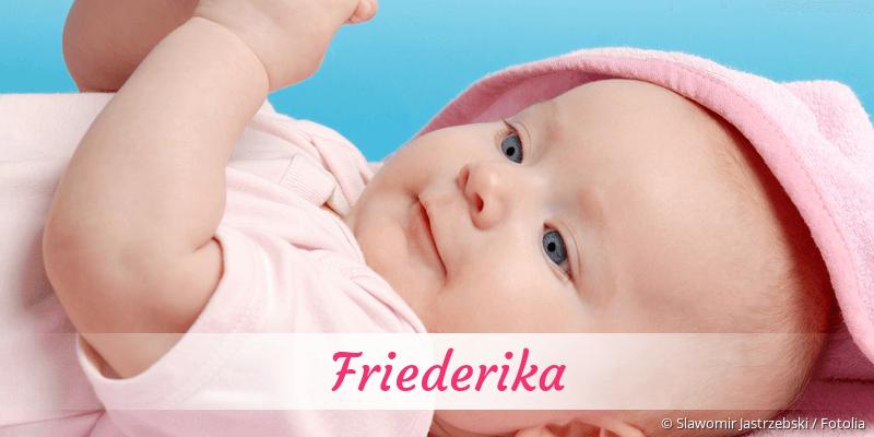 Name Friederika als Bild