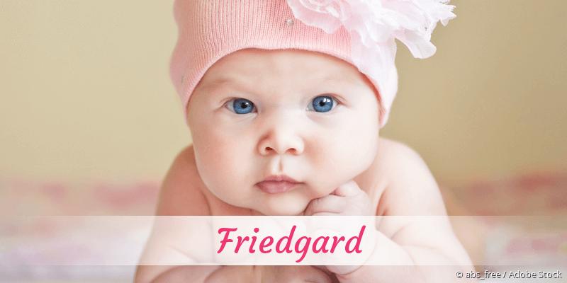 Name Friedgard als Bild