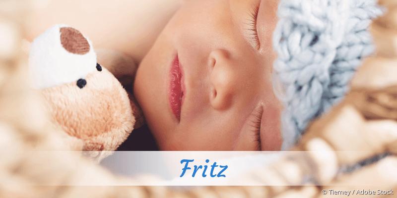 Name Fritz als Bild
