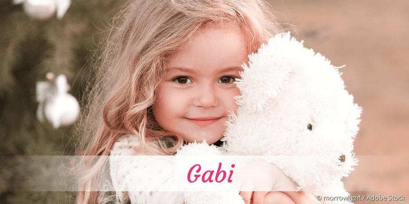 Name Gabi als Bild