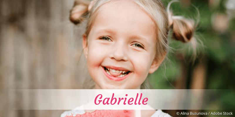 Name Gabrielle als Bild