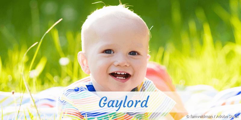 Name Gaylord als Bild