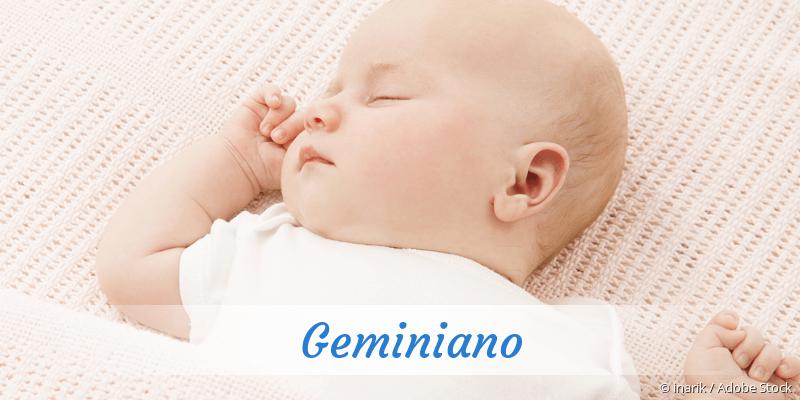 Name Geminiano als Bild