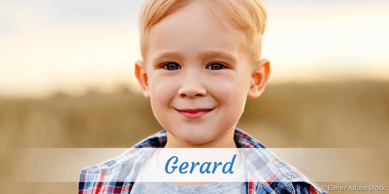Name Gerard als Bild