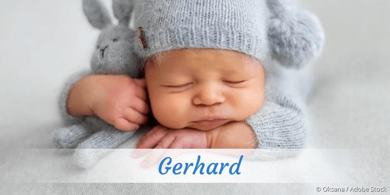 Name Gerhard als Bild