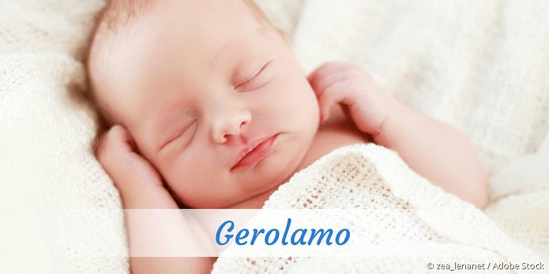 Name Gerolamo als Bild
