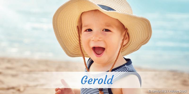 Name Gerold als Bild