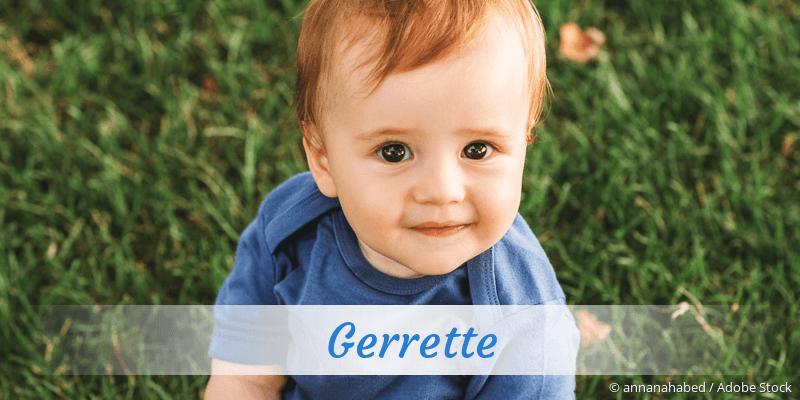 Name Gerrette als Bild