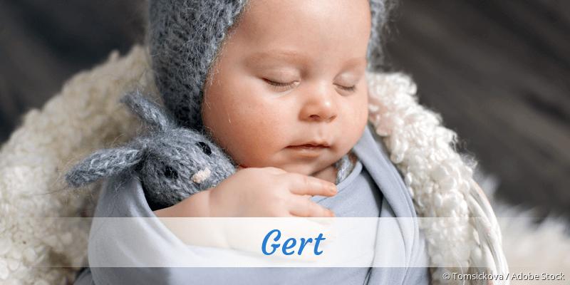 Name Gert als Bild