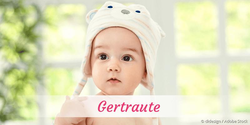 Name Gertraute als Bild