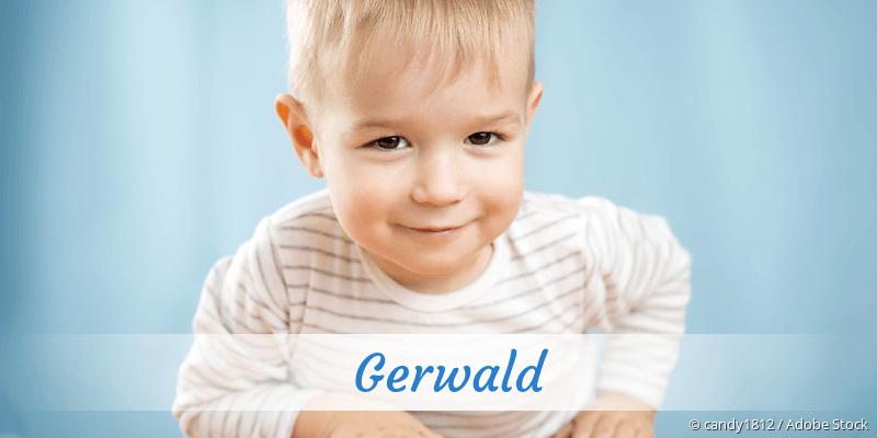 Name Gerwald als Bild