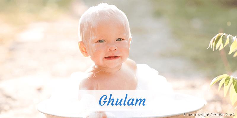 Name Ghulam als Bild