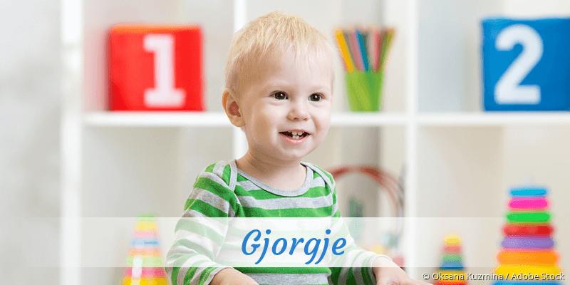 Name Gjorgje als Bild