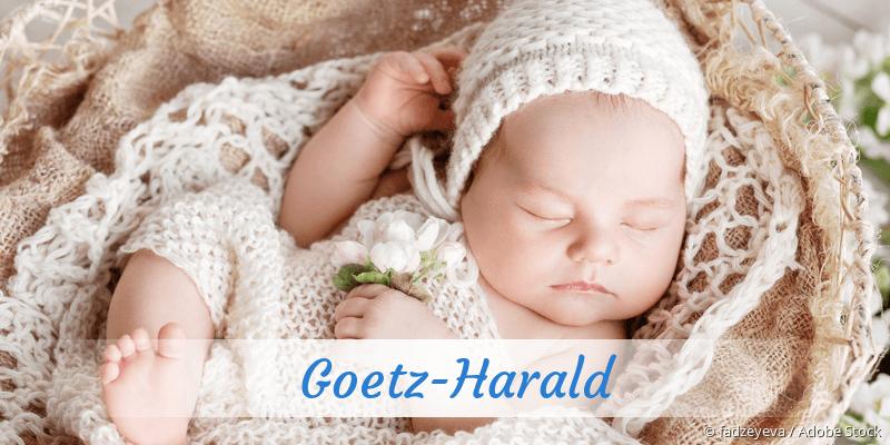 Name Goetz-Harald als Bild