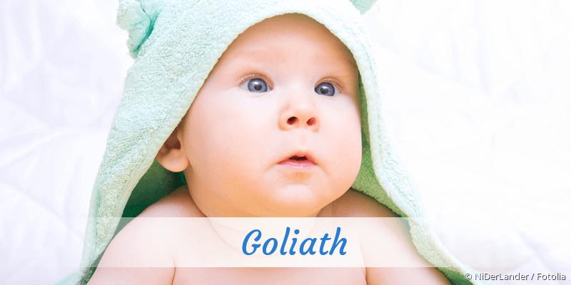 Name Goliath als Bild