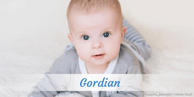 Name Gordian als Bild