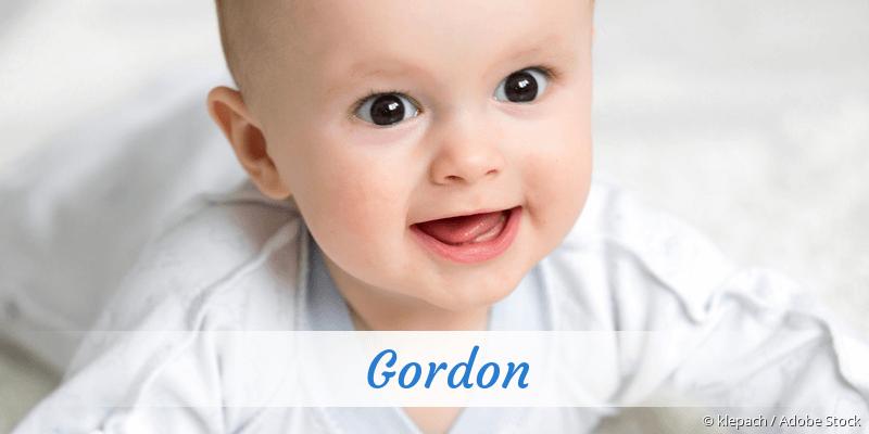 Name Gordon als Bild