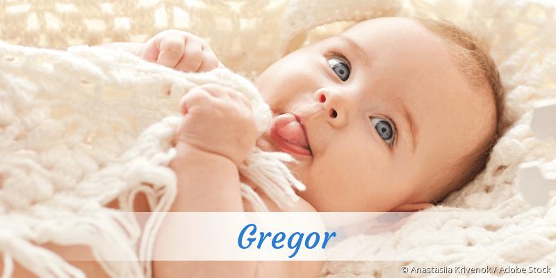 Name Gregor als Bild
