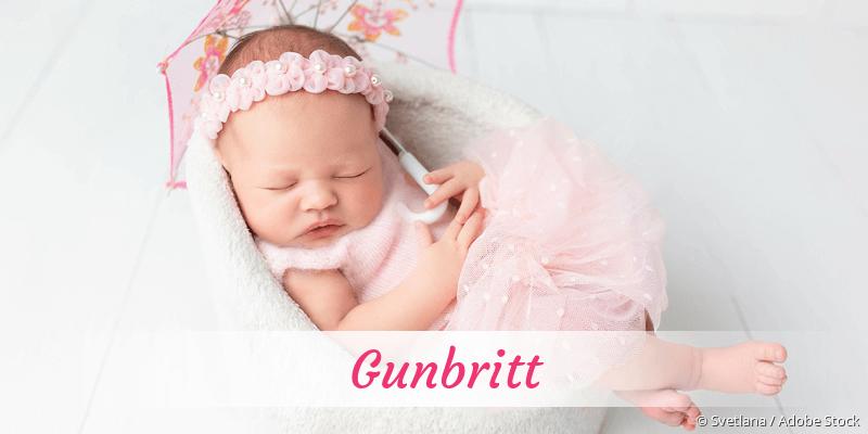 Name Gunbritt als Bild