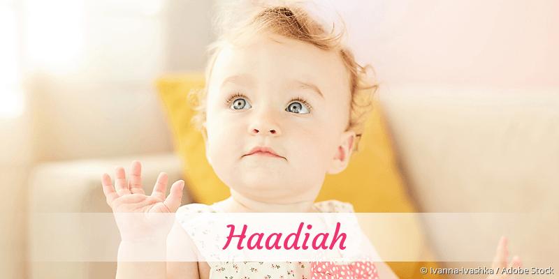 Name Haadiah als Bild