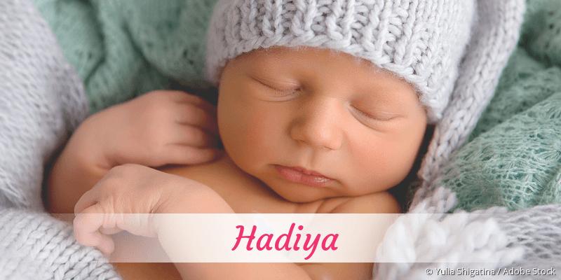Name Hadiya als Bild