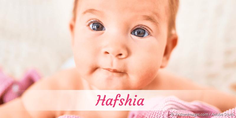 Name Hafshia als Bild