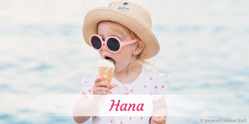 Name Hana als Bild