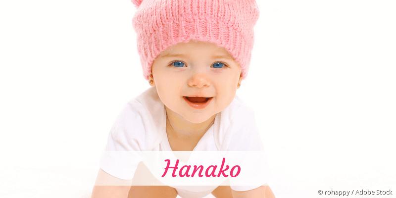 Name Hanako als Bild