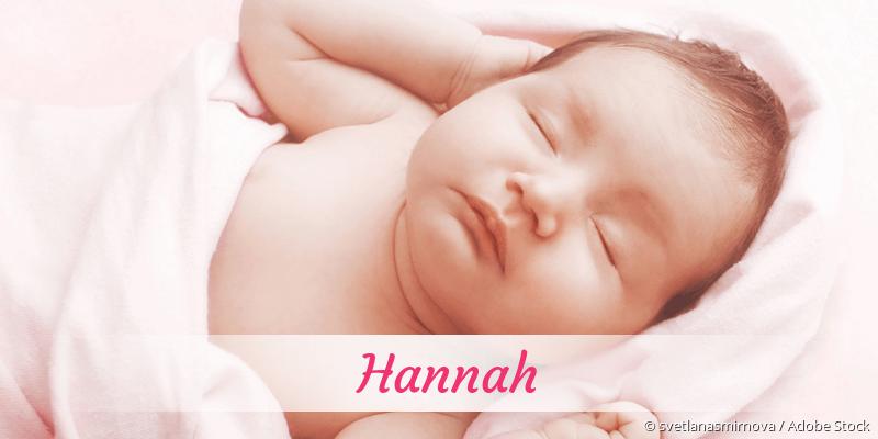 Name Hannah als Bild