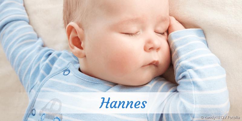 Name Hannes als Bild