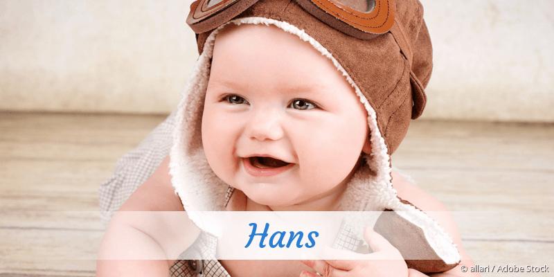 Name Hans als Bild
