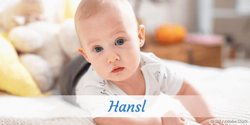 Name Hansl als Bild