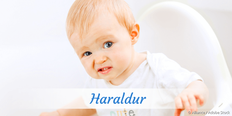 Name Haraldur als Bild