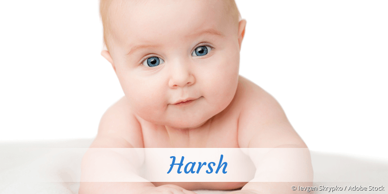 Name Harsh als Bild