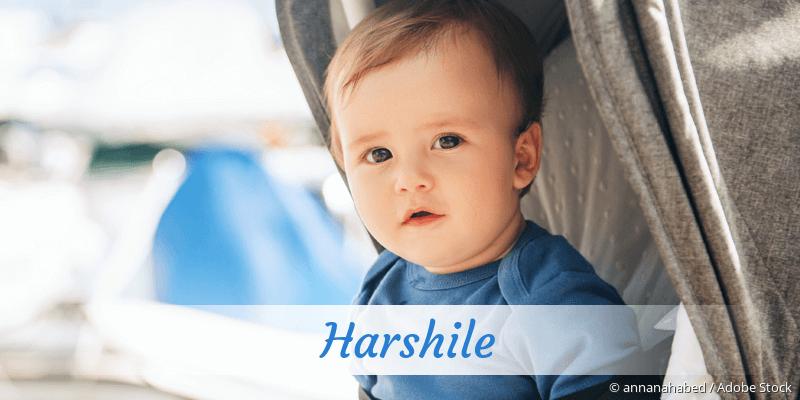 Name Harshile als Bild