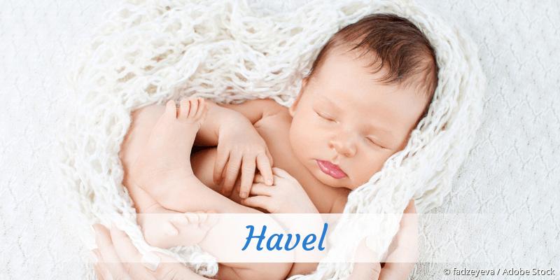 Name Havel als Bild