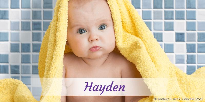 Name Hayden als Bild