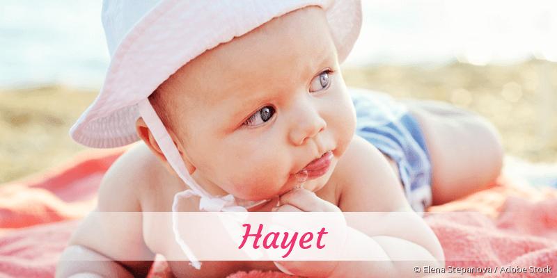 Name Hayet als Bild